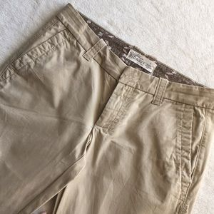 Cotton Tan Pants with stitching details